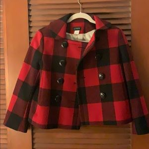 J Crew. Buffalo Check Coat